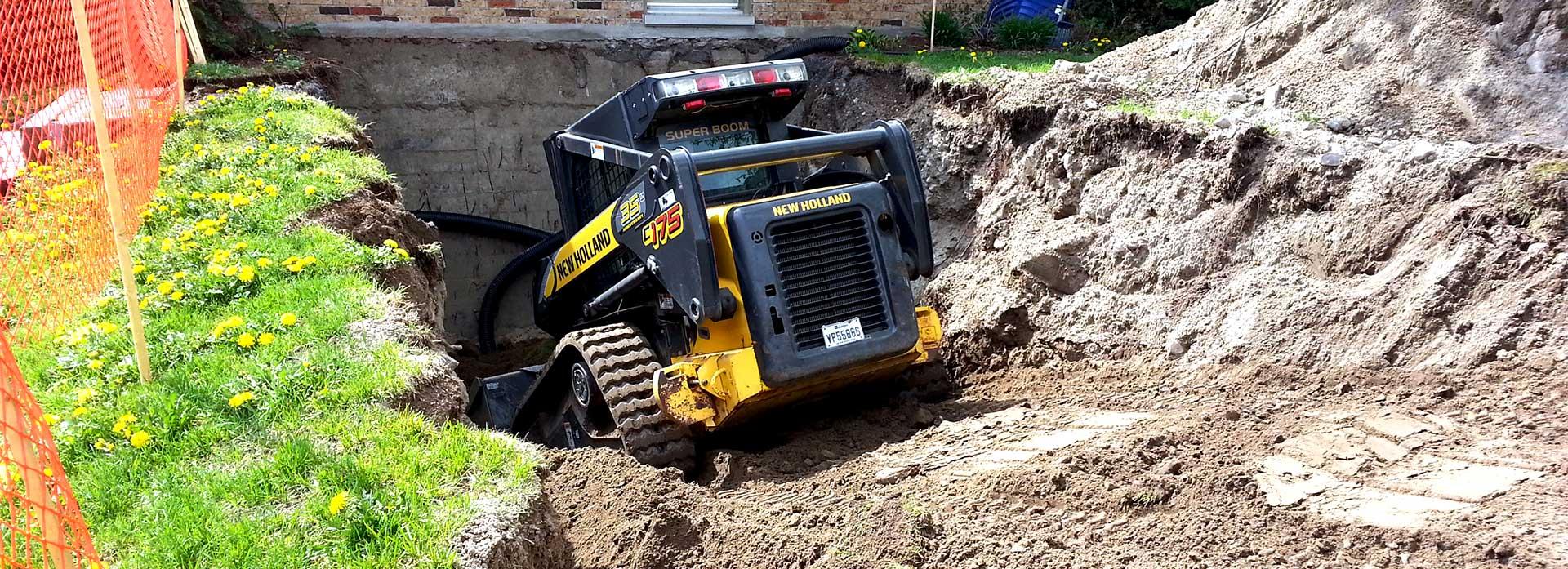 Excavation pour drainage